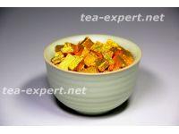 熟普洱茶膏(100克) 包装形式:金色的箔,矩形 Shu Puer Cha Gao 2 Смола шу пуэра №2