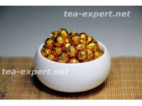 熟普洱茶膏(100克) 包装形式:金色的箔,球形 Shu Puer Cha Gao 4 Смола шу пуэра №4