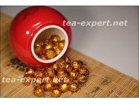 """球形茶膏在礼盒(50个15美金) Qiuxing Cha Gao Zai Lihe """"Смола шу пуэра"""""""