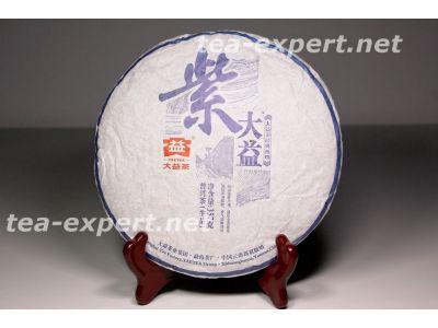 "大益""紫大益""饼茶2014年(生茶) Zi Da Yi ""Пурпурный Да И"""