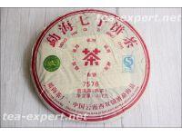 "福海""勐海七子饼茶 7576""2016年(熟茶) Menghai Qi Zi Bing Cha ""Мэнхай семёрка 7576"""