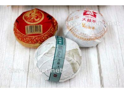 """""""一套熟和生普洱沱茶""""  Yitao Shu He Sheng Tuo Cha """"Набор точь"""""""
