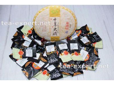 普文一套茶(熟和生茶36个) Набор Шу и Шэнов от фабрики Пувэнь