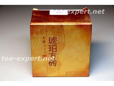 """大益""""琥珀方砖""""砖茶2014年(熟茶) Hu Po Fang Zhuan """"Янтаря квадратный кирпич"""""""