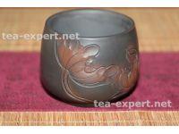 """建水茶杯""""浮雕荷花""""85毫升 Fudiao Hehua """"Барельеф - лотос"""""""