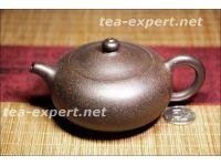 """""""扁玉""""宜兴茶壶190毫升(黑朱泥) Bian Yu """"Нефритовый брусок"""""""