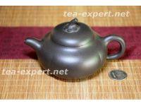 """宜兴茶壶"""" 黑金砂南瓜壶""""210毫升(黑色) Hei Jin Sha Nangua Hu """"Чёрная тыква"""""""