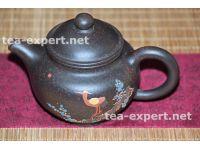 """宜兴茶壶""""掇只""""200毫升(浮雕:苍鹭在树枝上) Duo Zhi """"Цапля на ветке"""""""