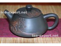 """建水茶壶""""石瓢""""180毫升(浮雕:房子和老树) Fangzi He Lao Shu """"Дом и старое дерево"""""""