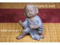 """纪念品茶像""""怀中抱月""""(蓝色的衣服) Huaizhong Bao Yue """"Луну в руках держа"""""""