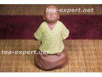 """纪念品茶像""""幻空童子""""(黄色的衣服) Huan Kong Tongzi """"Маленький монах мечтает"""""""